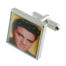 Elvis musica gemelli argento massiccio 925 Gemelli incisi BOX