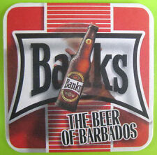 BANKS, THE BEER OF BARBADOS beer COASTER, MAT, Caribbean Island