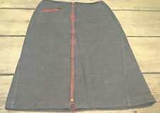 Jupe zippée en jean gris COP. COPINE Taille 38 FR