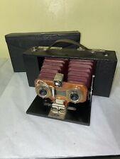 Kodak No. 2 Stereo Brownie Camera with Leatherette Case