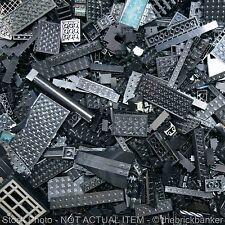LEGO 1/4lb BLACK~100 Pieces-SANITIZED-Bulk Pound Lot Brick Part Random Assorted