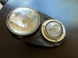 NOS Studebaker Headlight Assembly Land Cruiser AUTOLITE W/Glass Park Lens D-17-A
