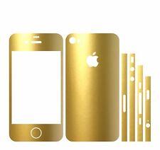 22 FARBEN IPHONE 4S FOLIE GOLD METALLIC ( BUMPER COVER HÜLLE SCHALE CASE SKIN )