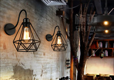 Industrial Wall Lamp Bedroom Balcony Wall Light Diamond Modle Lampshade Light