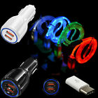 Car Charger LED Cable Converter for Samsung Galaxy S8 S9 Plus S10 S10e Note 8 9