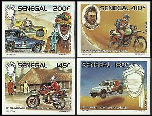 Senegal Sport Racing Cars 10th Paris Dakar Rally Imperfs Proofs Essay ** 1988