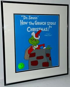 Dr Suess How The Grinch Stole Christmas Sericel Cel Rare Animation Cell