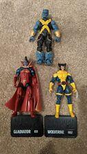 "Marvel Universe 3.75"" X-Men Beast + Gladiator + Jim Lee Wolverine Complete"