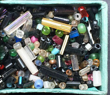 1930s Matchbox full of Tiny Assorted Glass Beads - Embroidery, Jewellery