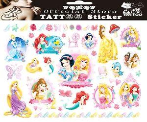 PRINCESS TATTOO SHEET Girls Birthday Childrens Kids Boys Party Gift Bag Filler