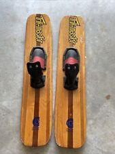 "Vintage Trik Master Cypress Gardens Florida Wooden Trick Water Skis 45"""