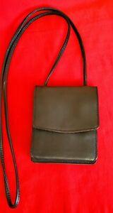 Derek Alexander Genuine Leather Mini Card  Organizer Black&Brown Cross-body bag