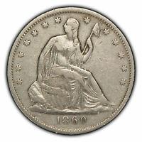 1860-O 50c Seated Liberty Silver Half Dollar - VF+ Details - SKU-H1108