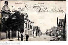 Bischheim AK 1915 Landstrasse Personen animeé Elsass Alsace France 1505544
