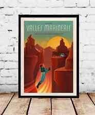 "SpaceX Mars travel poster Valles Mariners 24""x36"" tesla 24x36"