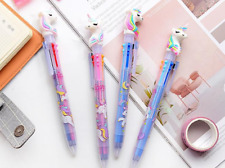 Six Colors in One Unicorn Ballpoint Pen Cute Stationery Office & School Supplies