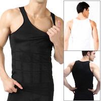 Mens Top Slimming Shirt Body Shaper Vest Compression Undershirt Corset Shapewear