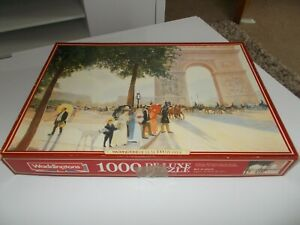 WADDINGTONS 1000 Piece Jigsaw Puzzle Sunny Afternoon In Arc De Triomphe Complete