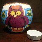 Glowing Glass Owl Motif Design Candle Tea Light T-Light Holder