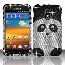 For US Cellular Samsung Galaxy S II 2 Crystal BLING Case Snap On Cover Panda
