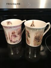 Two Beatrix Potter Fredrick Warne 2004 Mugs  Benjamin Bunny Mrs Tiggy Winkle