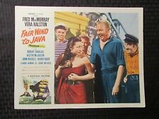 "1953 FAIR WIND TO JAVA Original 14x11"" Lobby Card VG 4.0 Vera Ralston"