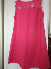 sz 16 cerise next linen dress in excellent condition