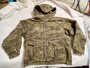 COLUMBIA Gallatin Range Heavy Wool Brown Camo Hooded Hunting Jacket  XL GUC