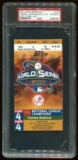 PSA Ticket World Series New York Yankees 2001 GM4 Derek Jeter Mr. November PSA