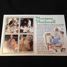 1994 Norman Rockwell Commemorative Stamp Sheet