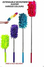 EXTENDABLE TELESCOPIC MICROFIBRE CLEANING DUSTER FEATHER STYLE EXTENDING BRUSH