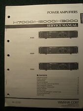 Yamaha Power Amplifier Service Manual Schematics Parts List H7000 H5000 H3000