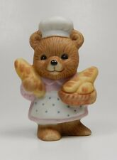 Vintage Miniature Homco Porcelain Bear Figurine - Series #8820 - The Baker