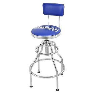 Kobalt Adjustable Hydraulic Stool Mechanic Seat Chair Work Shop Garage Bench sit
