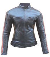 Giacca giubbotto da moto in pelle per donna femminile XS S M L XL XXL 40 42 44