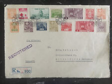 1937 Kobe japan Cover Front to Germany Multi Franked