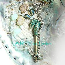 Fatto a mano turchese chiave SEAHORSE COLLANA SIRENA Realizzata A Mano Gioielli Regalo