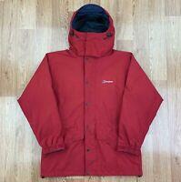 BERGHAUS Womens GORETEX Waterproof Coat | Hooded Outdoors Jacket | UK 14 Red