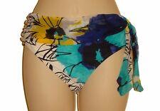 Be Creative bikini bottom swimsuit size 10 blue floral mid waist nwt new