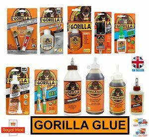 Gorilla Glue Range For Wood Stone Metal Ceramic Glass Waterproof 100% Tough