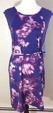 Simply Vera Vera Wang Women's Summer Floral Purple  Dress Size XS