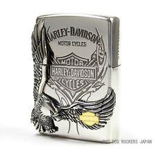Zippo Harley Davidson Japan Limited Silver Plating Big Eagle Metal HDP-16 F/S