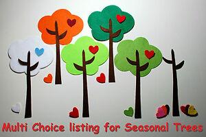 Die Cut Felt Trees - MULIT CHOICE - Card Topper Embellishments Appliques Green