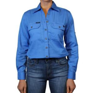 Pentecost River Blue Womens Full Button Work Shirt Ringers Western