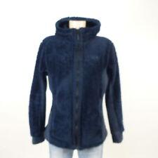 JACK WOLFSKIN Teddy Fleece Plusch Jacke Kapuze Outdoor Blau Gr. L 40