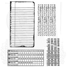 Tim Holtz Stampers Anonymous School Desk Unmounted Rubber Stamp Set CMS057