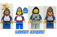 Lego Castle Minifigures - Lion Knights - peasant minifig FREE POST