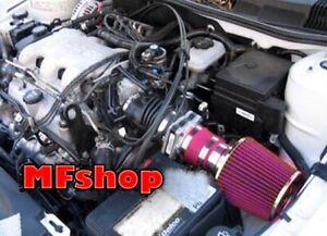 RED For 1999-2005 Pontiac Grand AM 3.4L V6 GT GT1 SE1 SE2 Air Intake System Kit