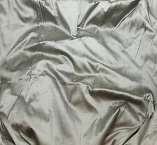 "Silk DUPIONI Fabric PEWTER fat 1/4 18""x27"" remnant"