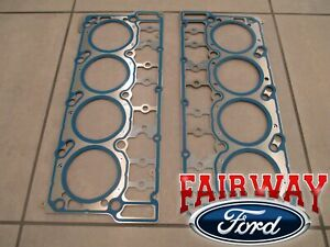 03 thru 05 Super Duty OEM Genuine Ford 6.0 Diesel Head Gaskets QTY-2  18mm DOWEL